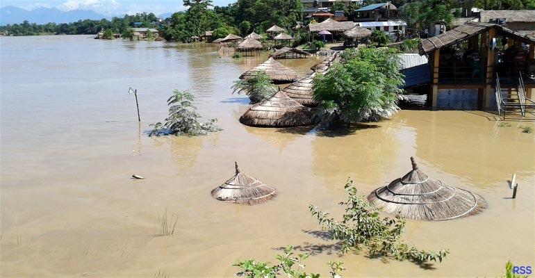 Chitwan Sauraha flood